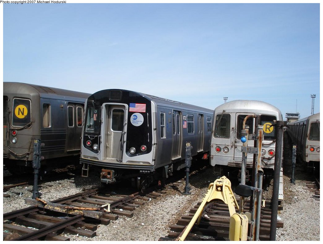 (180k, 1044x788)<br><b>Country:</b> United States<br><b>City:</b> New York<br><b>System:</b> New York City Transit<br><b>Location:</b> Coney Island Yard<br><b>Car:</b> R-160B (Kawasaki, 2005-2008)  8732 <br><b>Photo by:</b> Michael Hodurski<br><b>Date:</b> 4/14/2007<br><b>Viewed (this week/total):</b> 0 / 3022