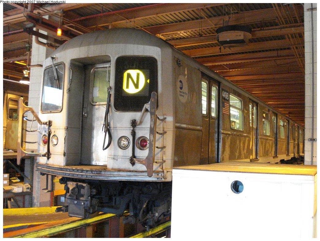 (187k, 1044x788)<br><b>Country:</b> United States<br><b>City:</b> New York<br><b>System:</b> New York City Transit<br><b>Location:</b> Coney Island Shop/Maint. & Inspection Shop<br><b>Car:</b> R-40M (St. Louis, 1969)  4498 <br><b>Photo by:</b> Michael Hodurski<br><b>Date:</b> 4/14/2007<br><b>Viewed (this week/total):</b> 4 / 2323