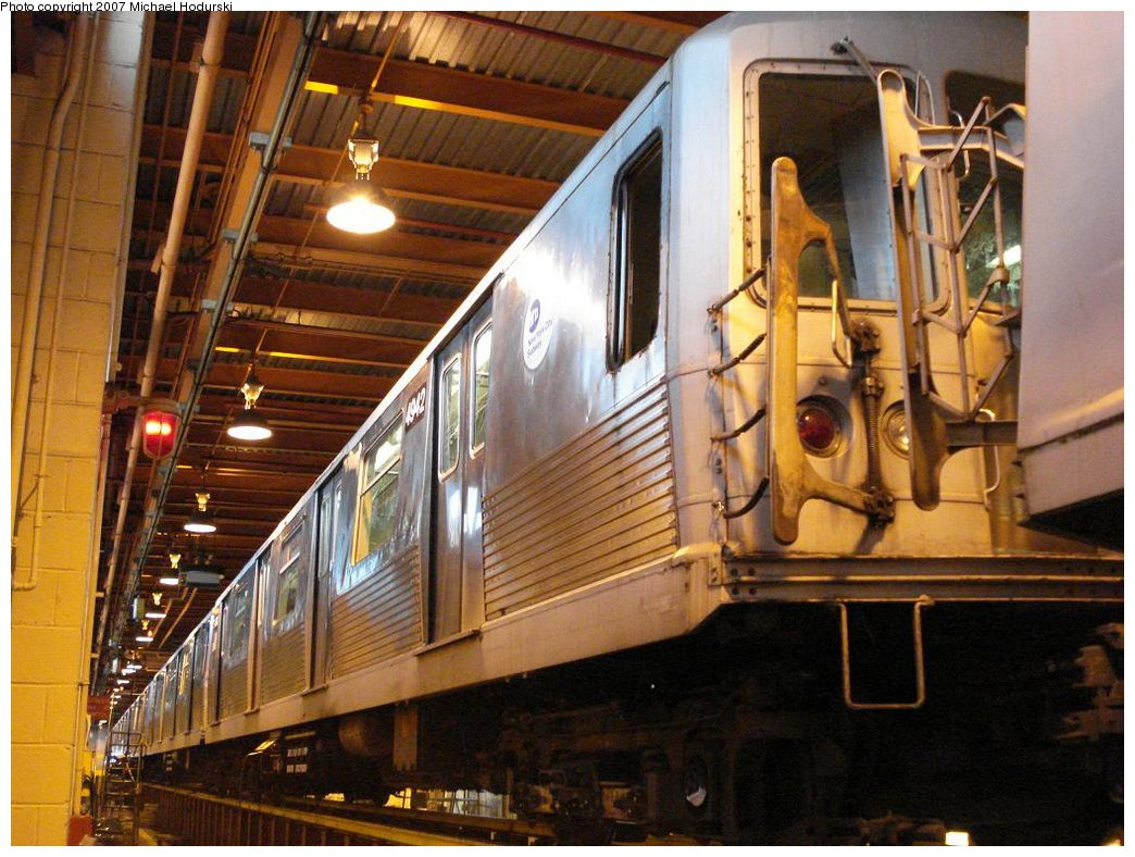 (204k, 1044x788)<br><b>Country:</b> United States<br><b>City:</b> New York<br><b>System:</b> New York City Transit<br><b>Location:</b> Coney Island Shop/Maint. & Inspection Shop<br><b>Car:</b> R-42 (St. Louis, 1969-1970)  4942 <br><b>Photo by:</b> Michael Hodurski<br><b>Date:</b> 4/14/2007<br><b>Viewed (this week/total):</b> 2 / 1924