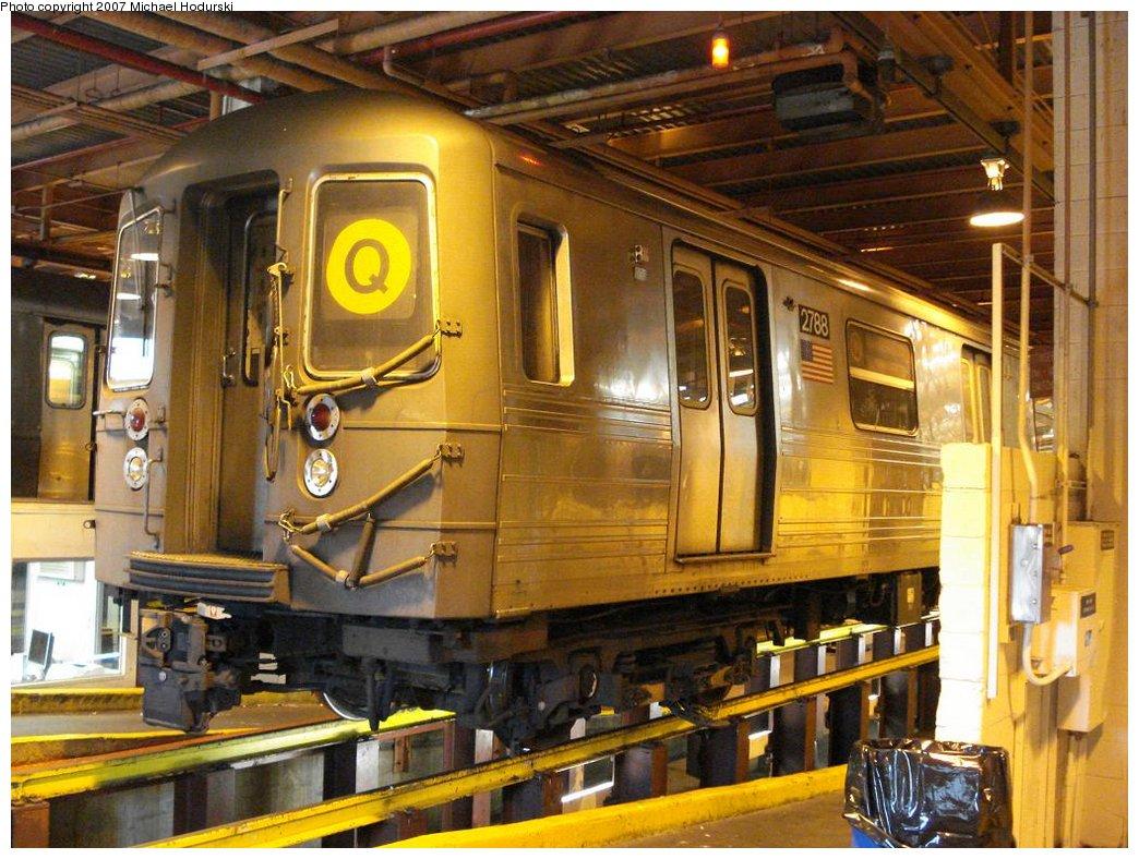 (216k, 1044x788)<br><b>Country:</b> United States<br><b>City:</b> New York<br><b>System:</b> New York City Transit<br><b>Location:</b> Coney Island Shop/Maint. & Inspection Shop<br><b>Car:</b> R-68 (Westinghouse-Amrail, 1986-1988)  2788 <br><b>Photo by:</b> Michael Hodurski<br><b>Date:</b> 4/14/2007<br><b>Viewed (this week/total):</b> 4 / 1985