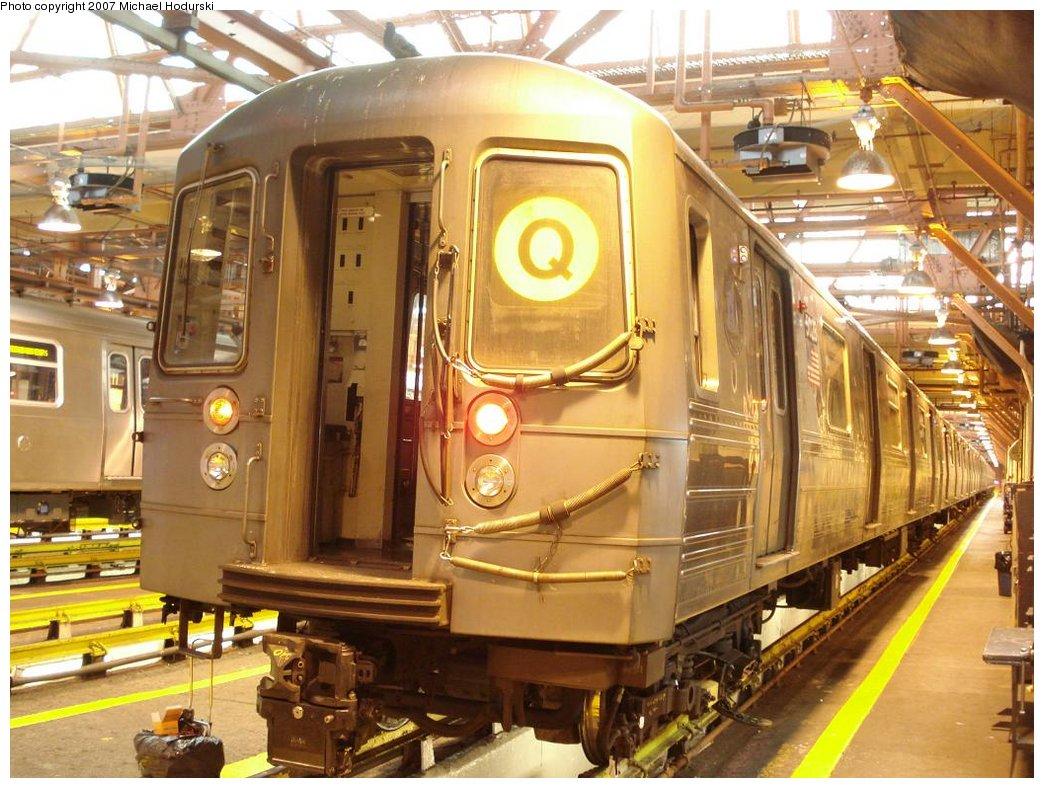 (208k, 1044x788)<br><b>Country:</b> United States<br><b>City:</b> New York<br><b>System:</b> New York City Transit<br><b>Location:</b> Coney Island Shop/Overhaul & Repair Shop<br><b>Car:</b> R-68A (Kawasaki, 1988-1989)  5028 <br><b>Photo by:</b> Michael Hodurski<br><b>Date:</b> 4/14/2007<br><b>Viewed (this week/total):</b> 0 / 1488