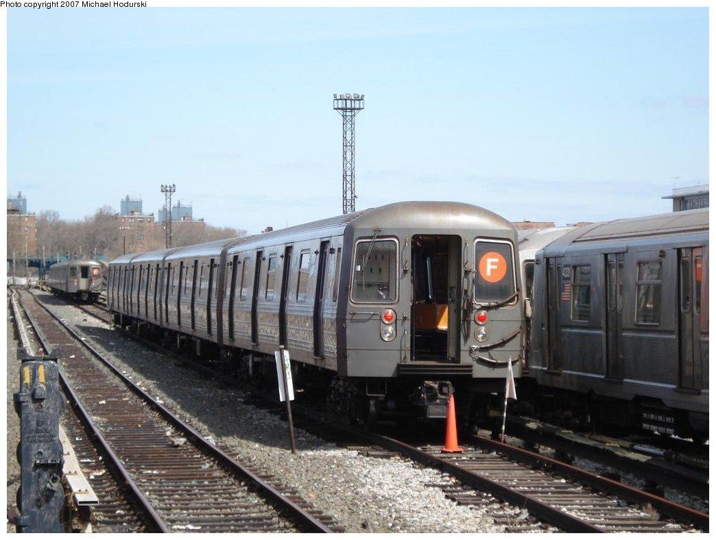 (152k, 1044x788)<br><b>Country:</b> United States<br><b>City:</b> New York<br><b>System:</b> New York City Transit<br><b>Location:</b> Coney Island Yard<br><b>Car:</b> R-68A (Kawasaki, 1988-1989)   <br><b>Photo by:</b> Michael Hodurski<br><b>Date:</b> 4/14/2007<br><b>Viewed (this week/total):</b> 0 / 3277