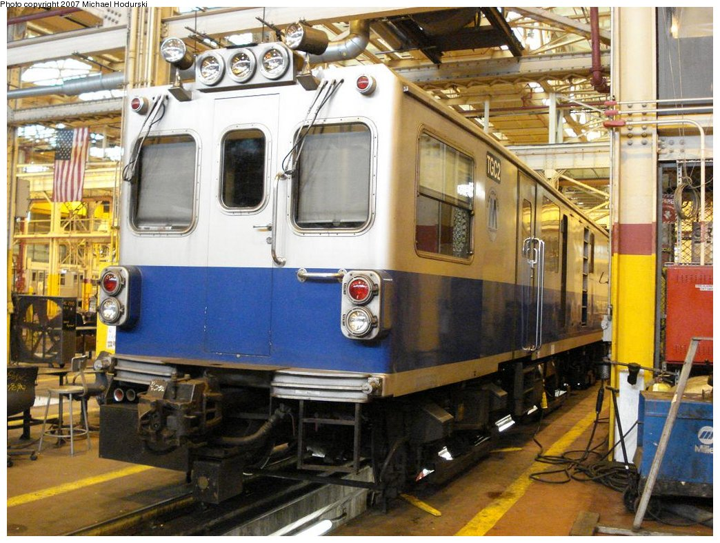 (219k, 1044x788)<br><b>Country:</b> United States<br><b>City:</b> New York<br><b>System:</b> New York City Transit<br><b>Location:</b> Coney Island Shop/Overhaul & Repair Shop<br><b>Car:</b> Track Geometry Car TGC2 <br><b>Photo by:</b> Michael Hodurski<br><b>Date:</b> 4/14/2007<br><b>Viewed (this week/total):</b> 2 / 2103