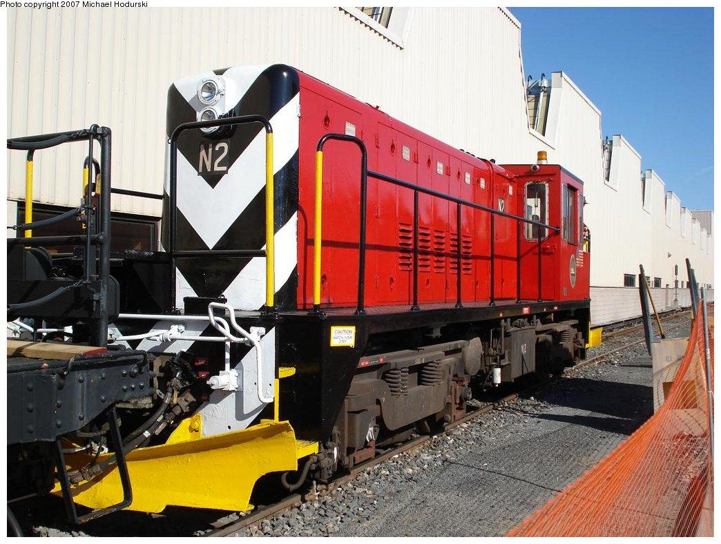 (209k, 1044x788)<br><b>Country:</b> United States<br><b>City:</b> New York<br><b>System:</b> New York City Transit<br><b>Location:</b> Coney Island Yard<br><b>Car:</b> R-47 (SBK) Locomotive  N2 <br><b>Photo by:</b> Michael Hodurski<br><b>Date:</b> 4/14/2007<br><b>Viewed (this week/total):</b> 1 / 1217