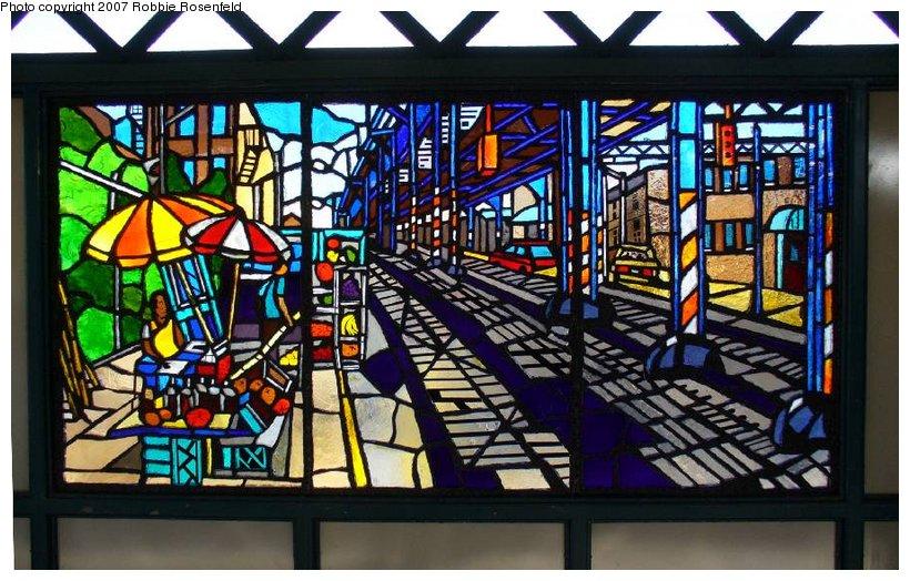 (149k, 820x524)<br><b>Country:</b> United States<br><b>City:</b> New York<br><b>System:</b> New York City Transit<br><b>Line:</b> IRT White Plains Road Line<br><b>Location:</b> Freeman Street <br><b>Photo by:</b> Robbie Rosenfeld<br><b>Date:</b> 4/20/2007<br><b>Artwork:</b> <i>The El</i>, Daniel Hauben (2005).<br><b>Viewed (this week/total):</b> 0 / 2791