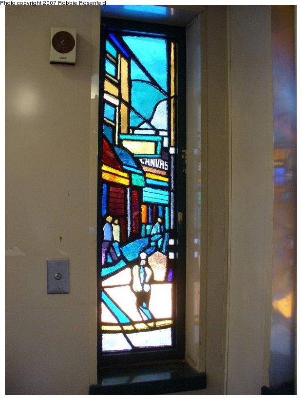 (107k, 620x820)<br><b>Country:</b> United States<br><b>City:</b> New York<br><b>System:</b> New York City Transit<br><b>Line:</b> IRT White Plains Road Line<br><b>Location:</b> Freeman Street <br><b>Photo by:</b> Robbie Rosenfeld<br><b>Date:</b> 4/20/2007<br><b>Artwork:</b> <i>The El</i>, Daniel Hauben (2005).<br><b>Viewed (this week/total):</b> 1 / 2062