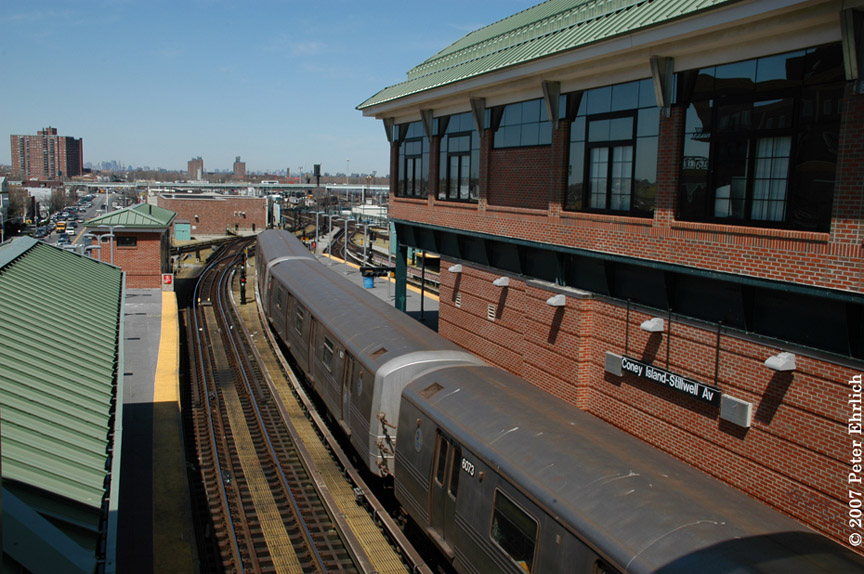(211k, 864x574)<br><b>Country:</b> United States<br><b>City:</b> New York<br><b>System:</b> New York City Transit<br><b>Location:</b> Coney Island/Stillwell Avenue<br><b>Route:</b> F<br><b>Car:</b> R-46 (Pullman-Standard, 1974-75) 6073 <br><b>Photo by:</b> Peter Ehrlich<br><b>Date:</b> 4/20/2007<br><b>Viewed (this week/total):</b> 0 / 3104