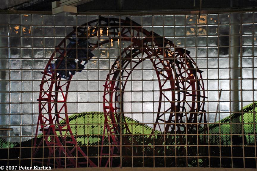 (246k, 864x574)<br><b>Country:</b> United States<br><b>City:</b> New York<br><b>System:</b> New York City Transit<br><b>Location:</b> Coney Island/Stillwell Avenue<br><b>Photo by:</b> Peter Ehrlich<br><b>Date:</b> 4/20/2007<br><b>Artwork:</b> <i>My Coney Island Baby</i>, Robert Wilson (2004).<br><b>Viewed (this week/total):</b> 0 / 2688