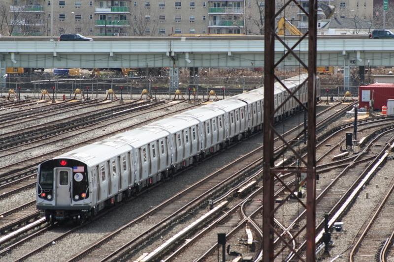(200k, 800x533)<br><b>Country:</b> United States<br><b>City:</b> New York<br><b>System:</b> New York City Transit<br><b>Location:</b> Coney Island Yard<br><b>Car:</b> R-160B (Kawasaki, 2005-2008)  8743 <br><b>Photo by:</b> Neil Feldman<br><b>Date:</b> 4/14/2007<br><b>Viewed (this week/total):</b> 0 / 2755