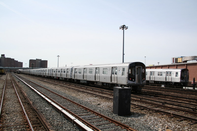 (133k, 800x533)<br><b>Country:</b> United States<br><b>City:</b> New York<br><b>System:</b> New York City Transit<br><b>Location:</b> Coney Island Yard<br><b>Car:</b> R-160B (Kawasaki, 2005-2008)  8852 <br><b>Photo by:</b> Neil Feldman<br><b>Date:</b> 4/14/2007<br><b>Viewed (this week/total):</b> 3 / 2045