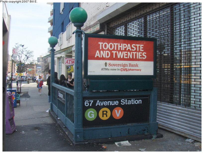 (131k, 820x622)<br><b>Country:</b> United States<br><b>City:</b> New York<br><b>System:</b> New York City Transit<br><b>Line:</b> IND Queens Boulevard Line<br><b>Location:</b> 67th Avenue <br><b>Photo by:</b> Bill E.<br><b>Date:</b> 4/23/2007<br><b>Viewed (this week/total):</b> 0 / 3893