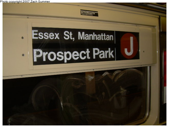 (87k, 660x500)<br><b>Country:</b> United States<br><b>City:</b> New York<br><b>System:</b> New York City Transit<br><b>Route:</b> J<br><b>Car:</b> R-42 (St. Louis, 1969-1970)  Interior <br><b>Photo by:</b> Zach Summer<br><b>Date:</b> 10/29/2006<br><b>Notes:</b> Signed up for J shuttle replacing #4 between Brooklyn Bridge and Atlantic Ave.<br><b>Viewed (this week/total):</b> 0 / 1710