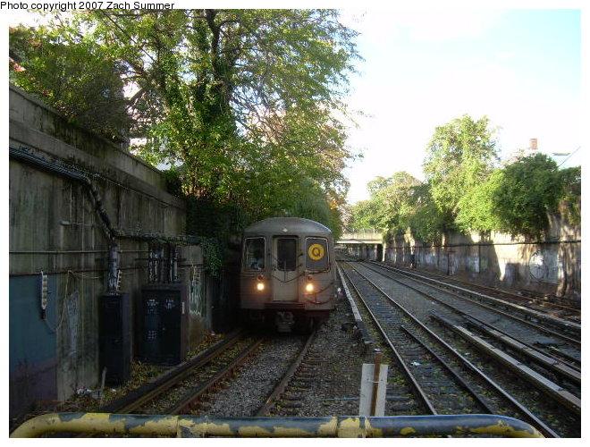 (143k, 660x500)<br><b>Country:</b> United States<br><b>City:</b> New York<br><b>System:</b> New York City Transit<br><b>Line:</b> BMT Brighton Line<br><b>Location:</b> Newkirk Plaza (fmrly Newkirk Ave.) <br><b>Route:</b> Q<br><b>Car:</b> R-68/R-68A Series (Number Unknown)  <br><b>Photo by:</b> Zach Summer<br><b>Date:</b> 10/29/2006<br><b>Viewed (this week/total):</b> 2 / 2118