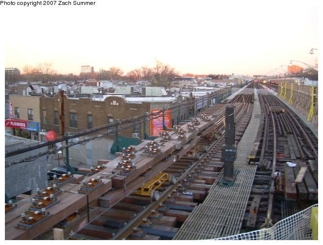 (117k, 660x500)<br><b>Country:</b> United States<br><b>City:</b> New York<br><b>System:</b> New York City Transit<br><b>Line:</b> BMT Brighton Line<br><b>Location:</b> Ocean Parkway <br><b>Photo by:</b> Zach Summer<br><b>Date:</b> 11/21/2006<br><b>Notes:</b> Track replacement.<br><b>Viewed (this week/total):</b> 3 / 2217