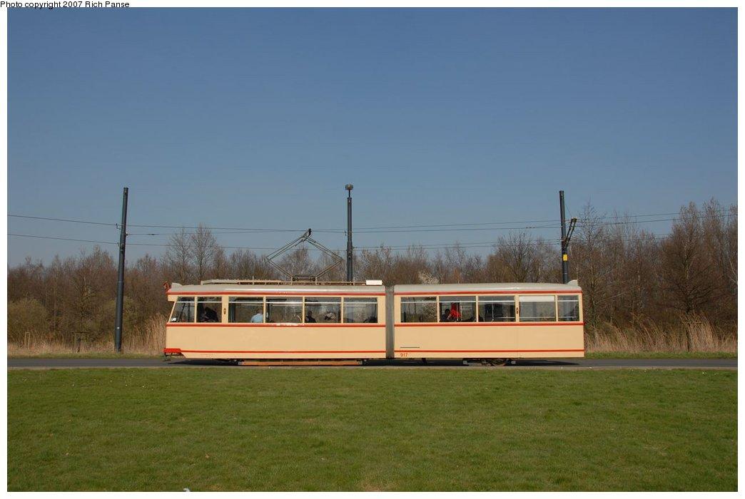 (101k, 1044x700)<br><b>Country:</b> Germany<br><b>City:</b> Bremen<br><b>System:</b> BSAG (Bremer Strassenbahn AG)<br><b>Location:</b> Klagenfurter Strasse <br><b>Route:</b> Fan Trip<br><b>Car:</b> Bremen Tram 917 <br><b>Photo by:</b> Richard Panse<br><b>Date:</b> 3/26/2007<br><b>Viewed (this week/total):</b> 0 / 676