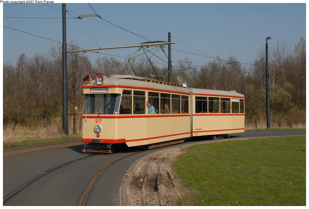(162k, 1044x706)<br><b>Country:</b> Germany<br><b>City:</b> Bremen<br><b>System:</b> BSAG (Bremer Strassenbahn AG)<br><b>Location:</b> Klagenfurter Strasse <br><b>Route:</b> Fan Trip<br><b>Car:</b> Bremen Tram 917 <br><b>Photo by:</b> Richard Panse<br><b>Date:</b> 3/26/2007<br><b>Viewed (this week/total):</b> 1 / 788