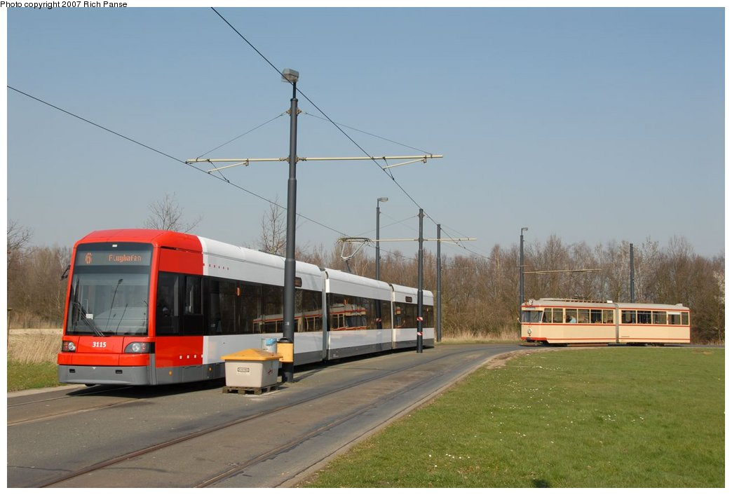 (135k, 1044x706)<br><b>Country:</b> Germany<br><b>City:</b> Bremen<br><b>System:</b> BSAG (Bremer Strassenbahn AG)<br><b>Location:</b> Klagenfurter Strasse <br><b>Route:</b> Fan Trip<br><b>Car:</b> Duewag GT8N-1  3115/917 <br><b>Photo by:</b> Richard Panse<br><b>Date:</b> 3/26/2007<br><b>Viewed (this week/total):</b> 2 / 767