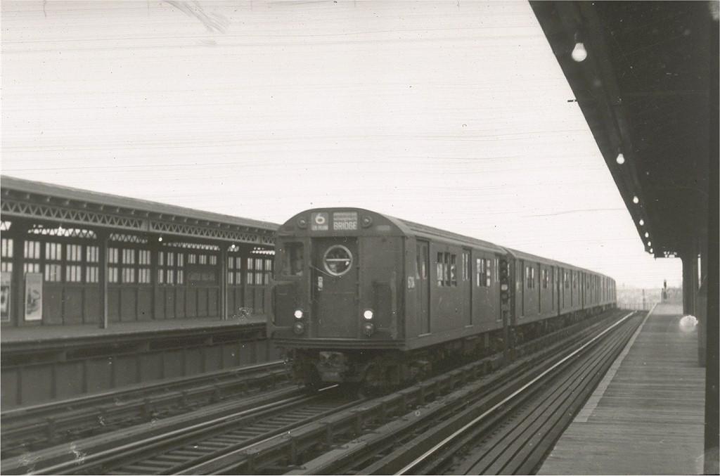 (133k, 1024x677)<br><b>Country:</b> United States<br><b>City:</b> New York<br><b>System:</b> New York City Transit<br><b>Line:</b> IRT Pelham Line<br><b>Location:</b> Castle Hill Avenue <br><b>Route:</b> 6<br><b>Car:</b> R-17 (St. Louis, 1955-56) 6704 <br><b>Collection of:</b> Joe Testagrose<br><b>Viewed (this week/total):</b> 1 / 2127