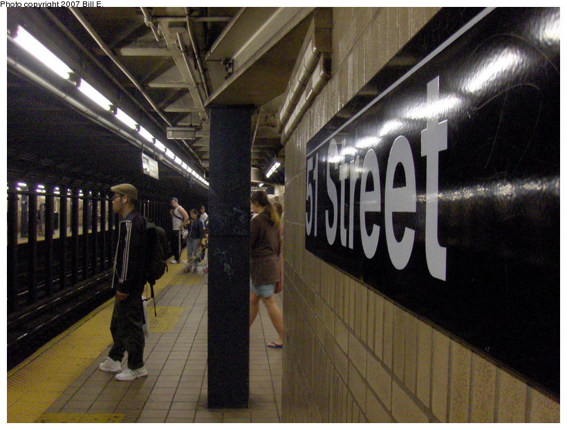 (118k, 820x622)<br><b>Country:</b> United States<br><b>City:</b> New York<br><b>System:</b> New York City Transit<br><b>Line:</b> IRT East Side Line<br><b>Location:</b> 51st Street <br><b>Photo by:</b> Bill E.<br><b>Date:</b> 5/13/2007<br><b>Viewed (this week/total):</b> 4 / 1847