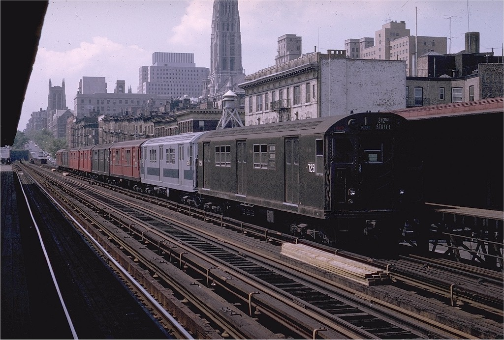 (242k, 1024x692)<br><b>Country:</b> United States<br><b>City:</b> New York<br><b>System:</b> New York City Transit<br><b>Line:</b> IRT West Side Line<br><b>Location:</b> 125th Street <br><b>Route:</b> 1<br><b>Car:</b> R-21 (St. Louis, 1956-57) 7251 <br><b>Photo by:</b> Joe Testagrose<br><b>Date:</b> 8/2/1970<br><b>Viewed (this week/total):</b> 2 / 1777