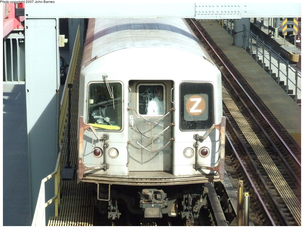 (196k, 1044x788)<br><b>Country:</b> United States<br><b>City:</b> New York<br><b>System:</b> New York City Transit<br><b>Line:</b> BMT Nassau Street/Jamaica Line<br><b>Location:</b> Williamsburg Bridge<br><b>Route:</b> Z<br><b>Car:</b> R-42 (St. Louis, 1969-1970)   <br><b>Photo by:</b> John Barnes<br><b>Date:</b> 5/7/2007<br><b>Viewed (this week/total):</b> 0 / 2016