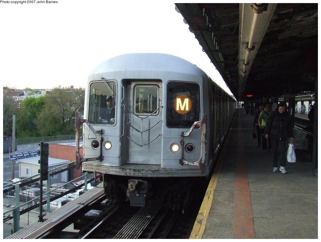 (166k, 1044x788)<br><b>Country:</b> United States<br><b>City:</b> New York<br><b>System:</b> New York City Transit<br><b>Line:</b> BMT West End Line<br><b>Location:</b> 62nd Street <br><b>Route:</b> M<br><b>Car:</b> R-42 (St. Louis, 1969-1970)  4911 <br><b>Photo by:</b> John Barnes<br><b>Date:</b> 5/7/2007<br><b>Viewed (this week/total):</b> 2 / 2024