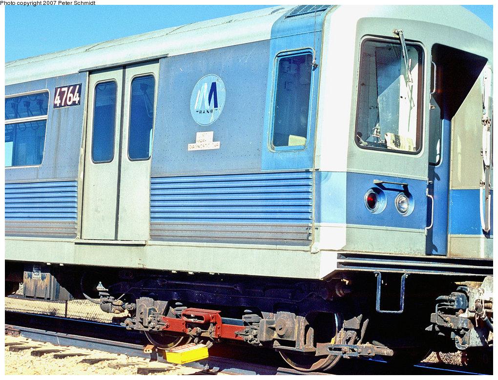 (275k, 1020x778)<br><b>Country:</b> United States<br><b>City:</b> New York<br><b>System:</b> New York City Transit<br><b>Location:</b> US DOT Test Facility, Pueblo, Colorado<br><b>Car:</b> R-42 (St. Louis, 1969-1970)  4764 <br><b>Photo by:</b> Peter Schmidt<br><b>Date:</b> 10/1978<br><b>Viewed (this week/total):</b> 7 / 2132