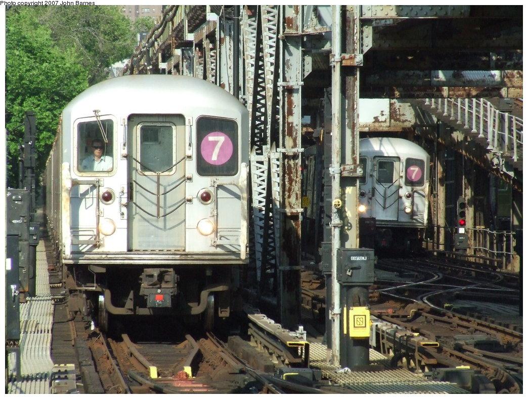 (235k, 1044x788)<br><b>Country:</b> United States<br><b>City:</b> New York<br><b>System:</b> New York City Transit<br><b>Line:</b> IRT Flushing Line<br><b>Location:</b> 111th Street <br><b>Route:</b> 7<br><b>Car:</b> R-62A (Bombardier, 1984-1987)  1726 <br><b>Photo by:</b> John Barnes<br><b>Date:</b> 5/15/2007<br><b>Viewed (this week/total):</b> 0 / 2870