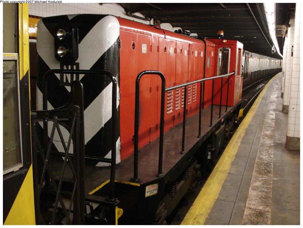 (164k, 1044x788)<br><b>Country:</b> United States<br><b>City:</b> New York<br><b>System:</b> New York City Transit<br><b>Line:</b> IND Crosstown Line<br><b>Location:</b> 15th Street/Prospect Park <br><b>Route:</b> Work Service<br><b>Car:</b> R-47 (SBK) Locomotive  N1 <br><b>Photo by:</b> Michael Hodurski<br><b>Date:</b> 5/19/2007<br><b>Viewed (this week/total):</b> 1 / 2010