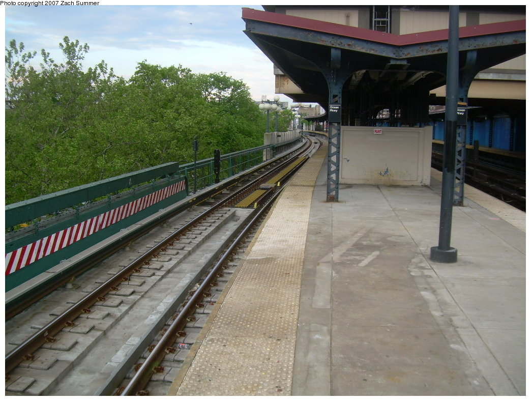 (226k, 1044x788)<br><b>Country:</b> United States<br><b>City:</b> New York<br><b>System:</b> New York City Transit<br><b>Line:</b> BMT Brighton Line<br><b>Location:</b> Ocean Parkway <br><b>Photo by:</b> Zach Summer<br><b>Date:</b> 5/19/2007<br><b>Notes:</b> New trackwork at Ocean Parkway.<br><b>Viewed (this week/total):</b> 1 / 1208