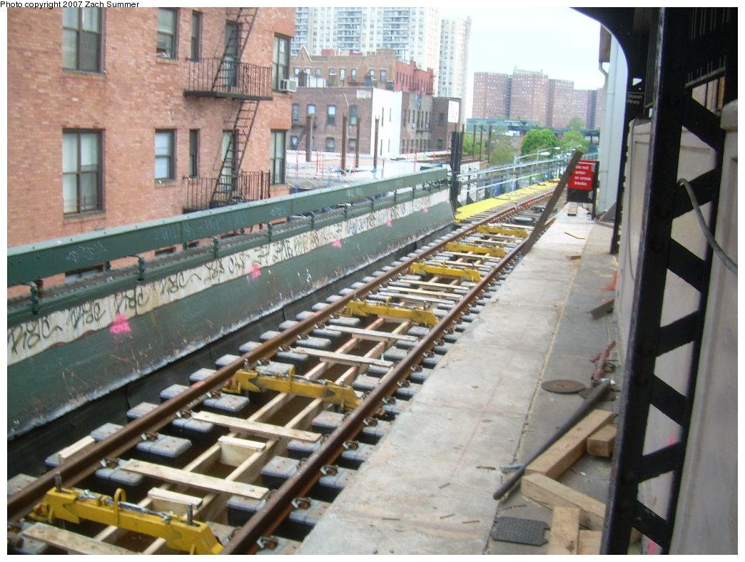 (225k, 1044x788)<br><b>Country:</b> United States<br><b>City:</b> New York<br><b>System:</b> New York City Transit<br><b>Line:</b> BMT Brighton Line<br><b>Location:</b> Ocean Parkway <br><b>Photo by:</b> Zach Summer<br><b>Date:</b> 5/19/2007<br><b>Notes:</b> New trackwork at Ocean Parkway.<br><b>Viewed (this week/total):</b> 0 / 1476