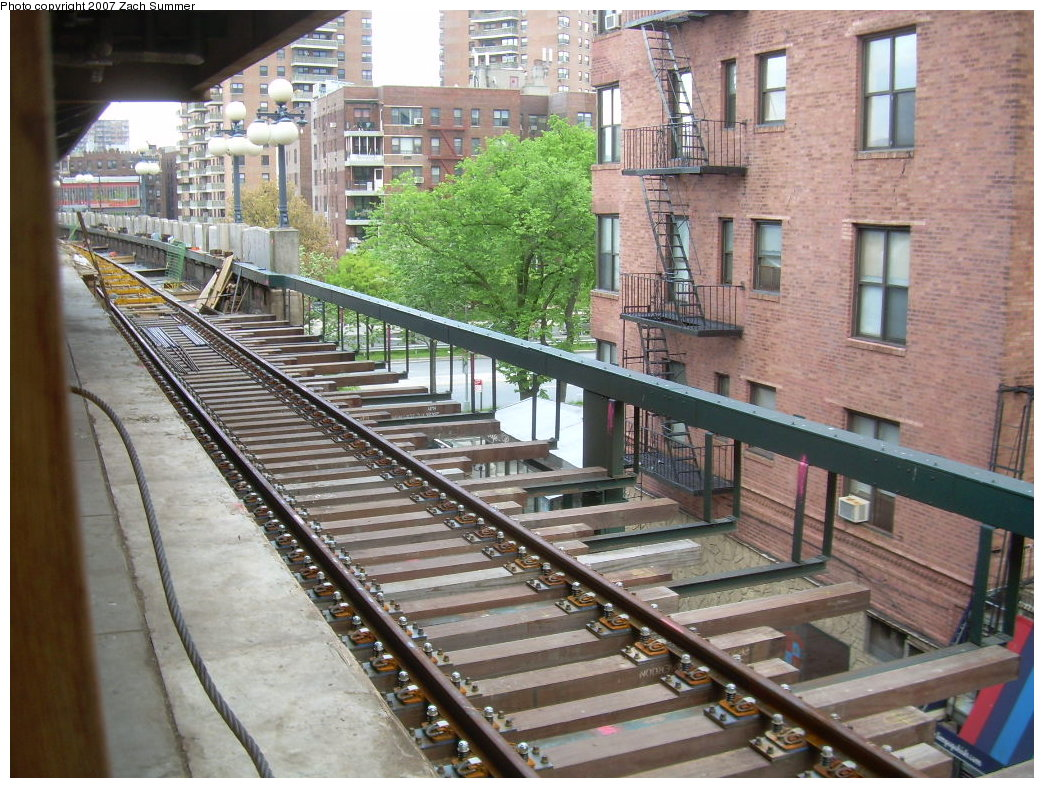 (265k, 1044x788)<br><b>Country:</b> United States<br><b>City:</b> New York<br><b>System:</b> New York City Transit<br><b>Line:</b> BMT Brighton Line<br><b>Location:</b> Ocean Parkway <br><b>Photo by:</b> Zach Summer<br><b>Date:</b> 5/19/2007<br><b>Notes:</b> New trackwork at Ocean Parkway.<br><b>Viewed (this week/total):</b> 2 / 1684