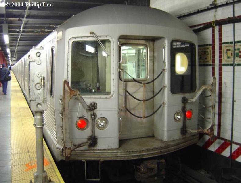(70k, 789x602)<br><b>Country:</b> United States<br><b>City:</b> New York<br><b>System:</b> New York City Transit<br><b>Line:</b> BMT Canarsie Line<br><b>Location:</b> 8th Avenue <br><b>Route:</b> L<br><b>Car:</b> R-42 (St. Louis, 1969-1970)   <br><b>Photo by:</b> Phillip Lee<br><b>Date:</b> 3/13/2004<br><b>Viewed (this week/total):</b> 0 / 2162