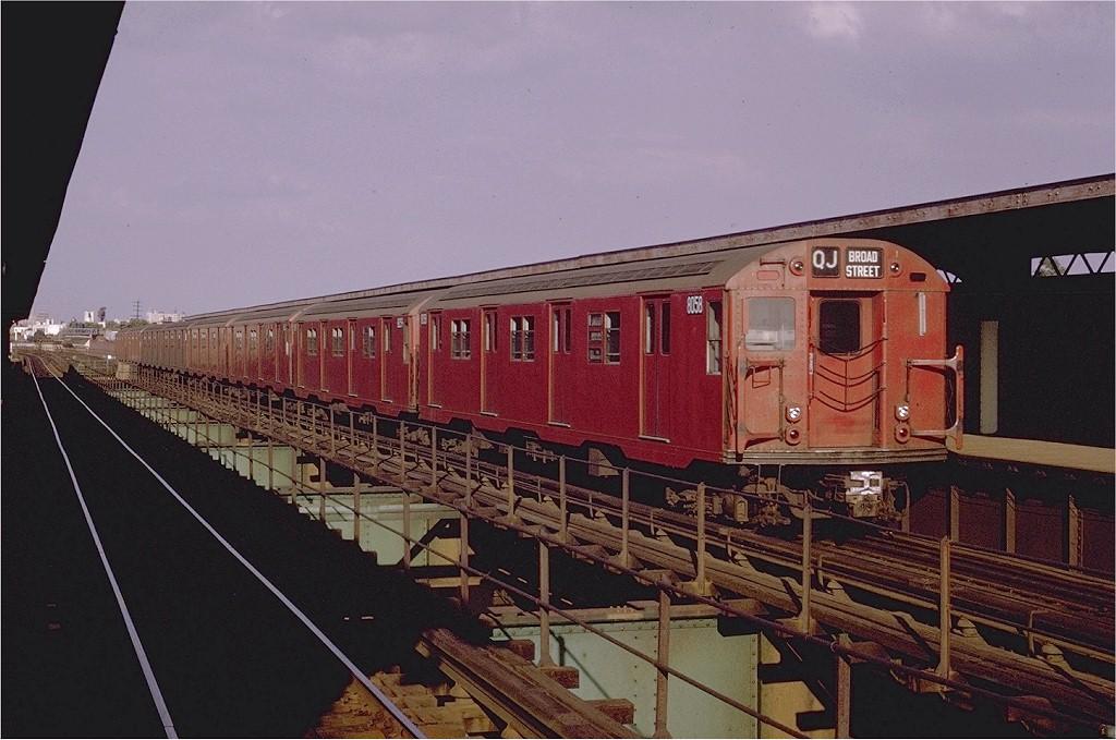 (190k, 1024x679)<br><b>Country:</b> United States<br><b>City:</b> New York<br><b>System:</b> New York City Transit<br><b>Line:</b> BMT Nassau Street/Jamaica Line<br><b>Location:</b> 121st Street <br><b>Route:</b> QJ<br><b>Car:</b> R-27 (St. Louis, 1960)  8058 <br><b>Photo by:</b> Joe Testagrose<br><b>Date:</b> 8/2/1970<br><b>Viewed (this week/total):</b> 1 / 2665