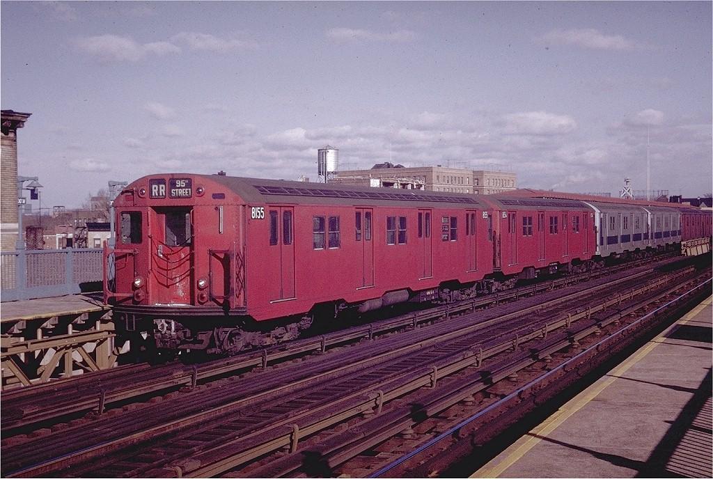 (251k, 1024x688)<br><b>Country:</b> United States<br><b>City:</b> New York<br><b>System:</b> New York City Transit<br><b>Line:</b> BMT Astoria Line<br><b>Location:</b> 30th/Grand Aves. <br><b>Route:</b> RR<br><b>Car:</b> R-27 (St. Louis, 1960)  8155 <br><b>Photo by:</b> Joe Testagrose<br><b>Date:</b> 12/6/1970<br><b>Viewed (this week/total):</b> 2 / 2491