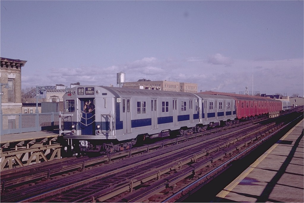 (199k, 1024x683)<br><b>Country:</b> United States<br><b>City:</b> New York<br><b>System:</b> New York City Transit<br><b>Line:</b> BMT Astoria Line<br><b>Location:</b> 30th/Grand Aves. <br><b>Route:</b> RR<br><b>Car:</b> R-27 (St. Louis, 1960)  8200 <br><b>Photo by:</b> Joe Testagrose<br><b>Date:</b> 12/6/1970<br><b>Viewed (this week/total):</b> 0 / 2314