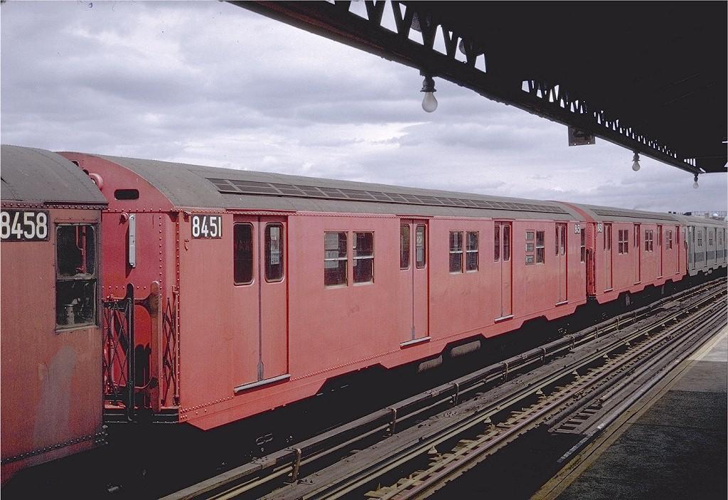 (220k, 1024x703)<br><b>Country:</b> United States<br><b>City:</b> New York<br><b>System:</b> New York City Transit<br><b>Line:</b> BMT Astoria Line<br><b>Location:</b> Broadway <br><b>Car:</b> R-30 (St. Louis, 1961) 8451 <br><b>Photo by:</b> Steve Zabel<br><b>Collection of:</b> Joe Testagrose<br><b>Date:</b> 4/25/1971<br><b>Viewed (this week/total):</b> 5 / 2132