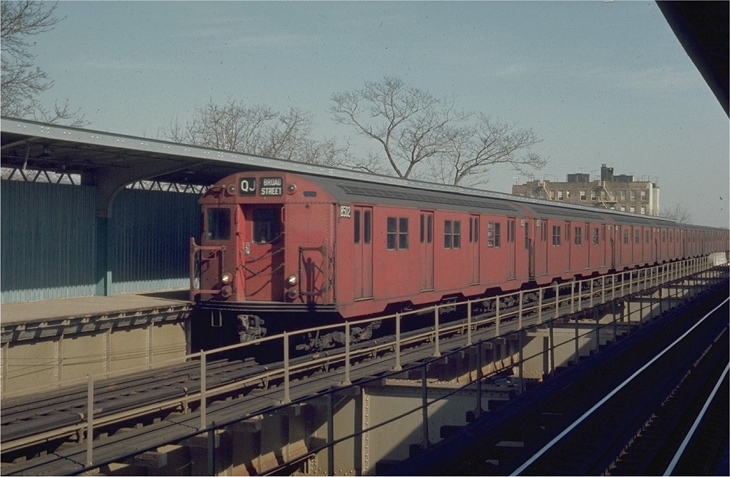 (180k, 1024x670)<br><b>Country:</b> United States<br><b>City:</b> New York<br><b>System:</b> New York City Transit<br><b>Line:</b> BMT Nassau Street/Jamaica Line<br><b>Location:</b> 75th Street/Elderts Lane <br><b>Route:</b> QJ<br><b>Car:</b> R-30 (St. Louis, 1961) 8502 <br><b>Photo by:</b> Joe Testagrose<br><b>Date:</b> 2/22/1970<br><b>Viewed (this week/total):</b> 0 / 2641