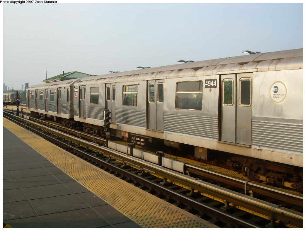 (200k, 1044x788)<br><b>Country:</b> United States<br><b>City:</b> New York<br><b>System:</b> New York City Transit<br><b>Location:</b> Coney Island/Stillwell Avenue<br><b>Route:</b> N<br><b>Car:</b> R-42 (St. Louis, 1969-1970)  4944 <br><b>Photo by:</b> Zach Summer<br><b>Date:</b> 5/27/2007<br><b>Viewed (this week/total):</b> 0 / 2076