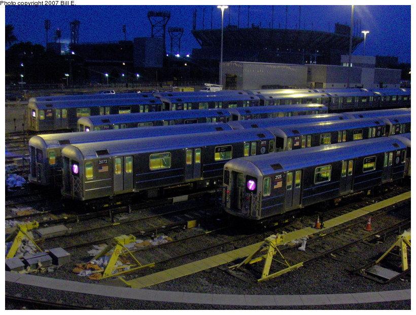 (147k, 820x622)<br><b>Country:</b> United States<br><b>City:</b> New York<br><b>System:</b> New York City Transit<br><b>Location:</b> Corona Yard<br><b>Car:</b> R-62A (Bombardier, 1984-1987)   <br><b>Photo by:</b> Bill E.<br><b>Date:</b> 5/31/2007<br><b>Viewed (this week/total):</b> 0 / 2181