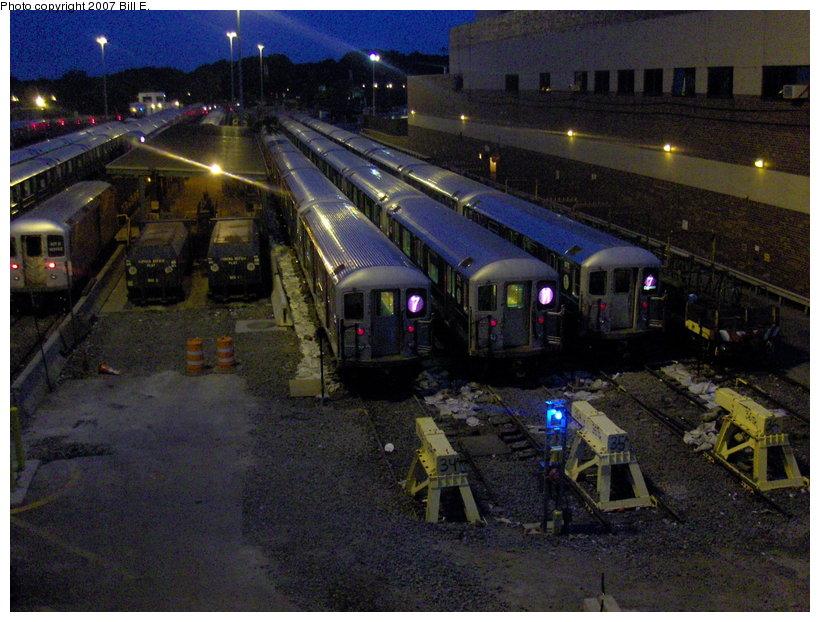 (130k, 820x622)<br><b>Country:</b> United States<br><b>City:</b> New York<br><b>System:</b> New York City Transit<br><b>Location:</b> Corona Yard<br><b>Car:</b> R-62A (Bombardier, 1984-1987)   <br><b>Photo by:</b> Bill E.<br><b>Date:</b> 5/31/2007<br><b>Viewed (this week/total):</b> 1 / 2421