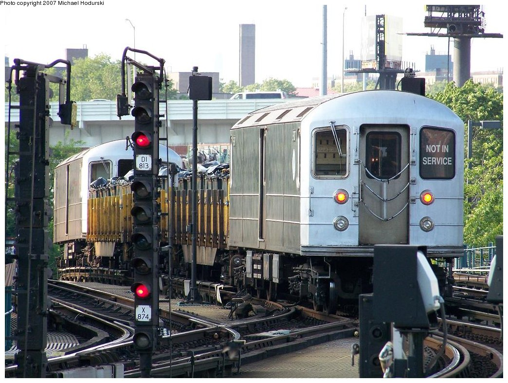 (231k, 1044x788)<br><b>Country:</b> United States<br><b>City:</b> New York<br><b>System:</b> New York City Transit<br><b>Location:</b> Coney Island/Stillwell Avenue<br><b>Route:</b> Work Service<br><b>Car:</b> R-127/R-134 (Kawasaki, 1991-1996) EP007 <br><b>Photo by:</b> Michael Hodurski<br><b>Date:</b> 6/5/2007<br><b>Viewed (this week/total):</b> 0 / 2241