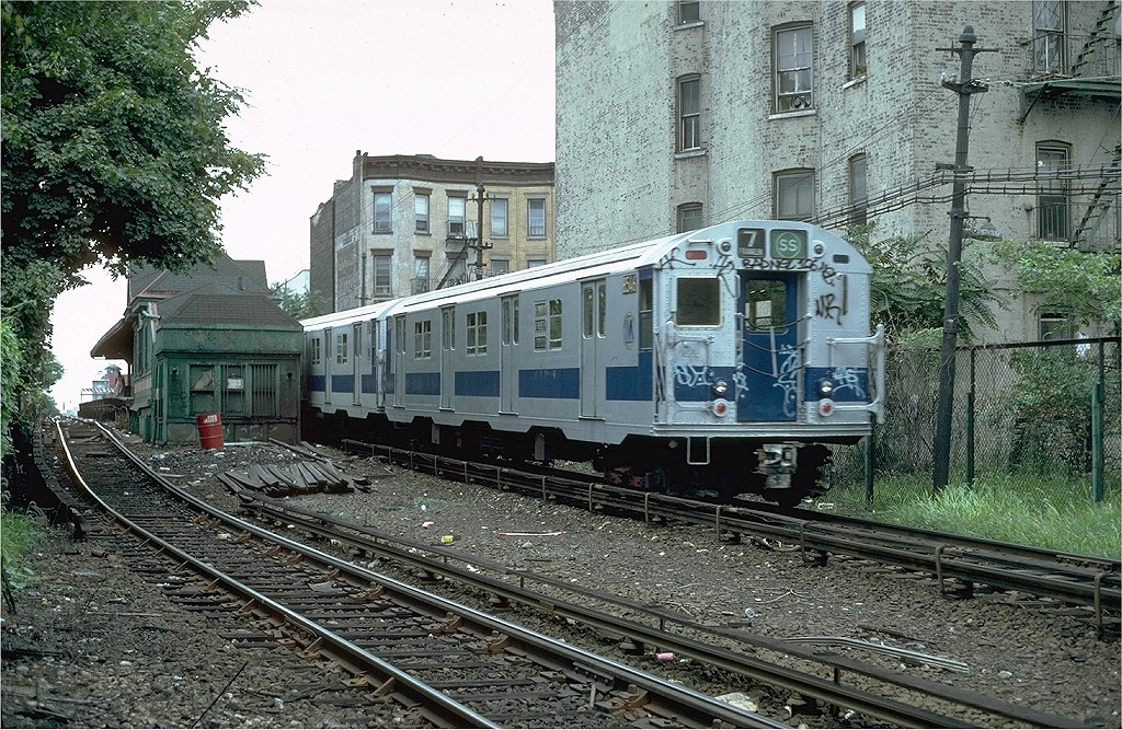 (324k, 1024x667)<br><b>Country:</b> United States<br><b>City:</b> New York<br><b>System:</b> New York City Transit<br><b>Line:</b> BMT Franklin<br><b>Location:</b> Park Place <br><b>Route:</b> Franklin Shuttle<br><b>Car:</b> R-30 (St. Louis, 1961) 8546 <br><b>Photo by:</b> Steve Zabel<br><b>Collection of:</b> Joe Testagrose<br><b>Date:</b> 8/22/1981<br><b>Viewed (this week/total):</b> 3 / 3456