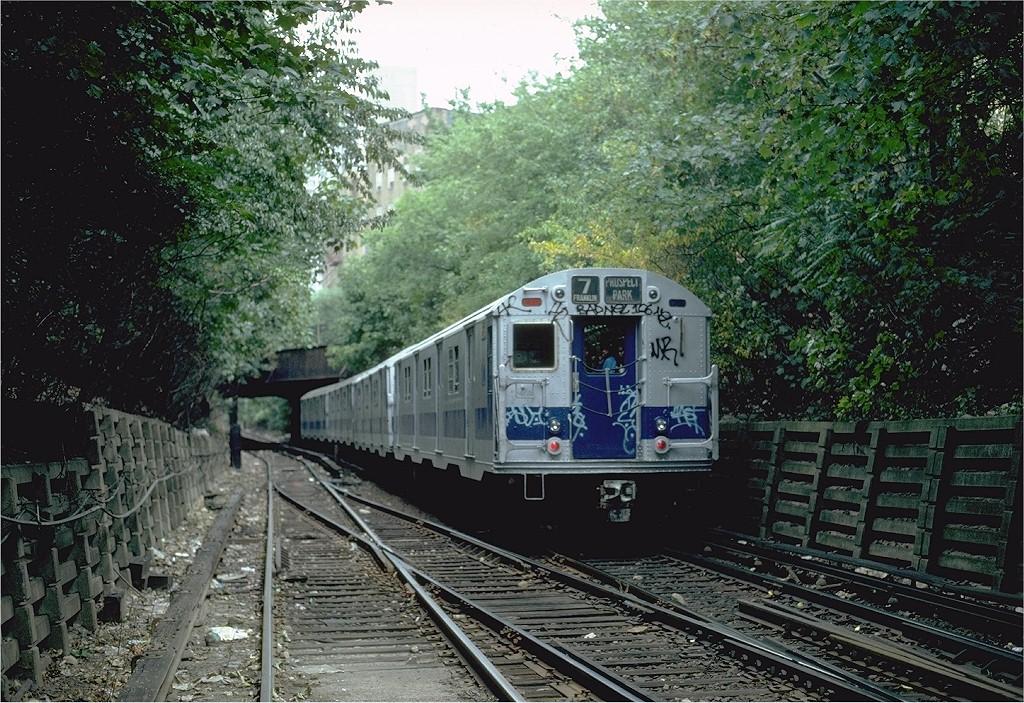 (293k, 1024x703)<br><b>Country:</b> United States<br><b>City:</b> New York<br><b>System:</b> New York City Transit<br><b>Line:</b> BMT Franklin<br><b>Location:</b> Empire Blvd. (Malbone St.) Tunnel Portal <br><b>Route:</b> Franklin Shuttle<br><b>Car:</b> R-30 (St. Louis, 1961) 8546 <br><b>Photo by:</b> Steve Zabel<br><b>Collection of:</b> Joe Testagrose<br><b>Date:</b> 8/22/1981<br><b>Viewed (this week/total):</b> 2 / 2852