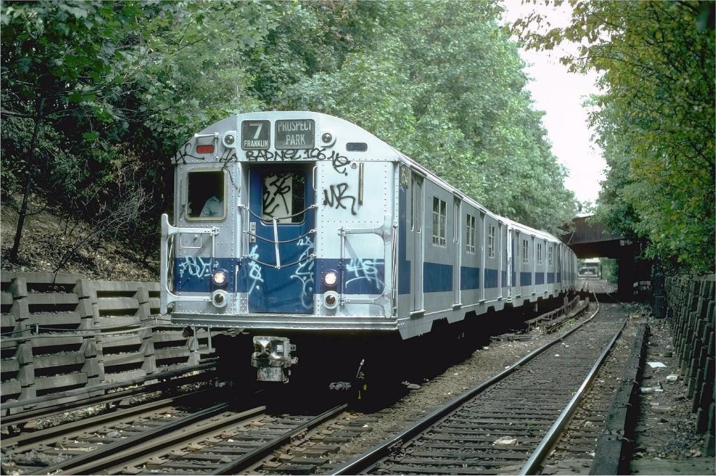 (331k, 1024x681)<br><b>Country:</b> United States<br><b>City:</b> New York<br><b>System:</b> New York City Transit<br><b>Line:</b> BMT Franklin<br><b>Location:</b> Empire Blvd. (Malbone St.) Tunnel Portal <br><b>Route:</b> Franklin Shuttle<br><b>Car:</b> R-30 (St. Louis, 1961) 8546 <br><b>Photo by:</b> Steve Zabel<br><b>Collection of:</b> Joe Testagrose<br><b>Date:</b> 8/22/1981<br><b>Viewed (this week/total):</b> 1 / 2742