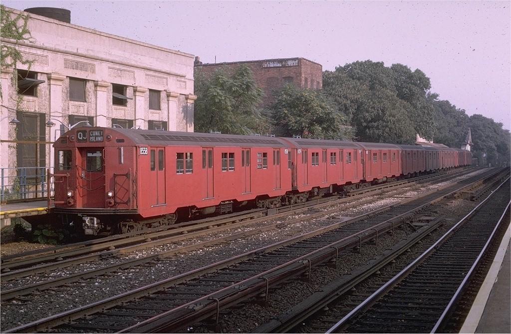 (245k, 1024x671)<br><b>Country:</b> United States<br><b>City:</b> New York<br><b>System:</b> New York City Transit<br><b>Line:</b> BMT Brighton Line<br><b>Location:</b> Avenue H <br><b>Route:</b> QJ<br><b>Car:</b> R-30 (St. Louis, 1961) 8558 <br><b>Photo by:</b> Doug Grotjahn<br><b>Collection of:</b> Joe Testagrose<br><b>Date:</b> 8/26/1970<br><b>Viewed (this week/total):</b> 3 / 2358