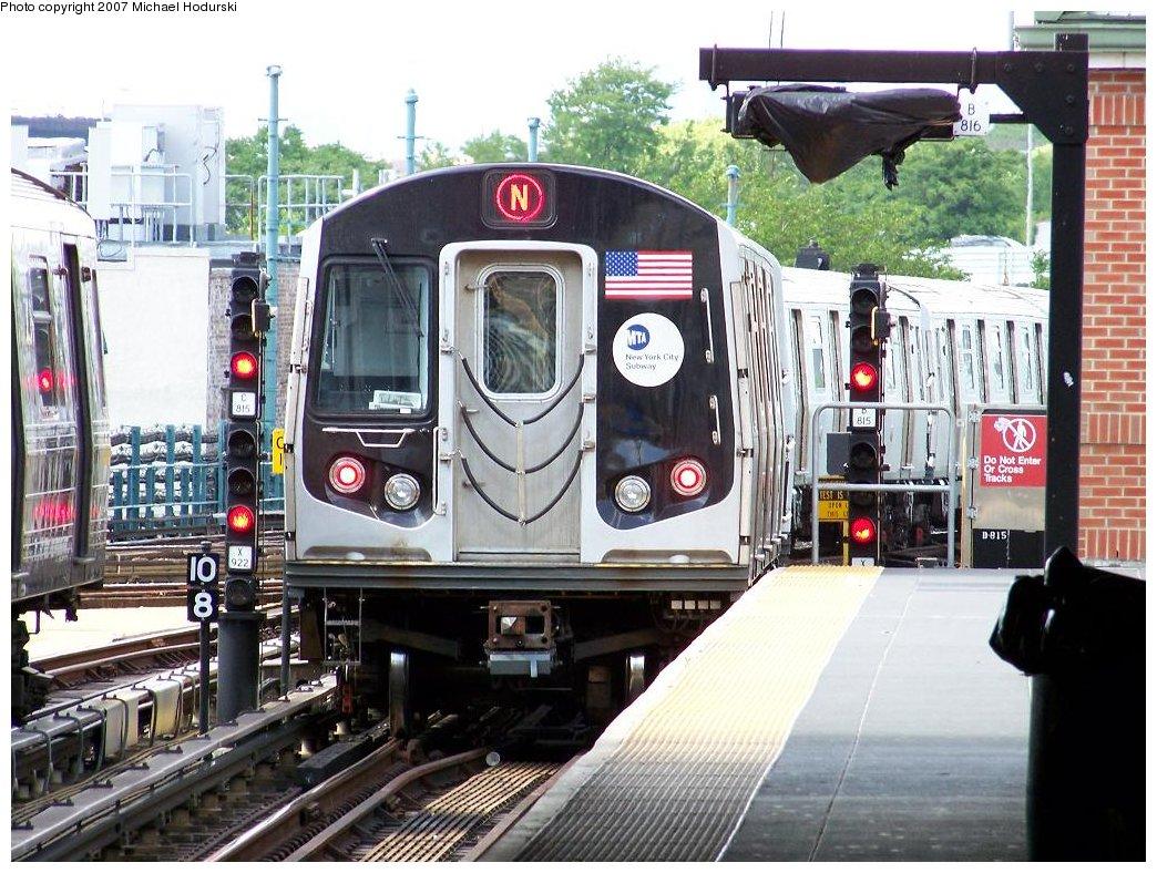 (226k, 1044x788)<br><b>Country:</b> United States<br><b>City:</b> New York<br><b>System:</b> New York City Transit<br><b>Location:</b> Coney Island/Stillwell Avenue<br><b>Route:</b> N<br><b>Car:</b> R-160A-2 (Alstom, 2005-2008, 5 car sets)  8658 <br><b>Photo by:</b> Michael Hodurski<br><b>Date:</b> 6/6/2007<br><b>Viewed (this week/total):</b> 0 / 2126