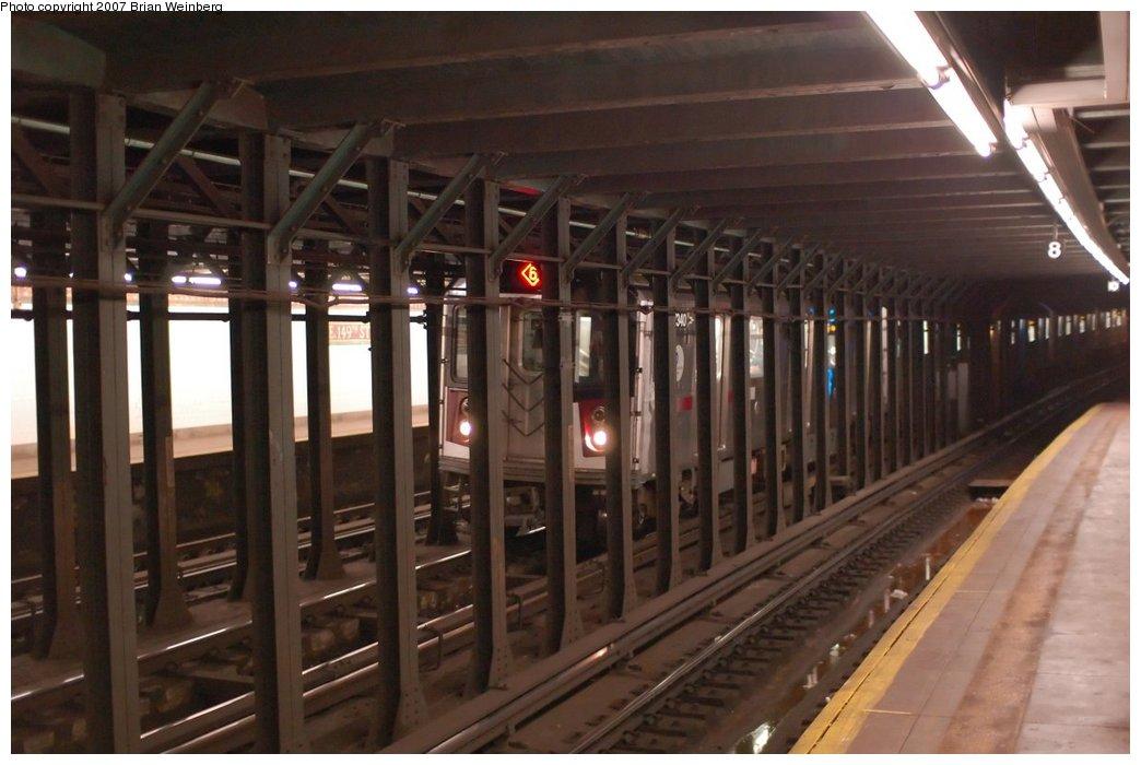 (184k, 1044x700)<br><b>Country:</b> United States<br><b>City:</b> New York<br><b>System:</b> New York City Transit<br><b>Line:</b> IRT Pelham Line<br><b>Location:</b> East 149th Street <br><b>Route:</b> 6<br><b>Car:</b> R-142A (Primary Order, Kawasaki, 1999-2002)  7340 <br><b>Photo by:</b> Brian Weinberg<br><b>Date:</b> 6/1/2007<br><b>Viewed (this week/total):</b> 4 / 5934