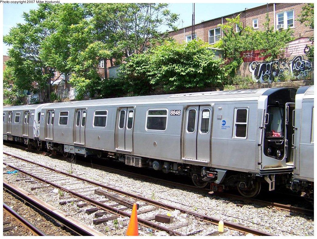 (358k, 1044x788)<br><b>Country:</b> United States<br><b>City:</b> New York<br><b>System:</b> New York City Transit<br><b>Line:</b> BMT Sea Beach Line<br><b>Location:</b> 18th Avenue <br><b>Car:</b> R-160B (Kawasaki, 2005-2008)  8848 <br><b>Photo by:</b> Michael Hodurski<br><b>Date:</b> 6/7/2007<br><b>Viewed (this week/total):</b> 0 / 1751