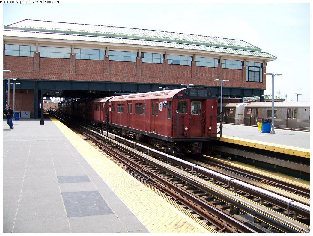 (204k, 1044x788)<br><b>Country:</b> United States<br><b>City:</b> New York<br><b>System:</b> New York City Transit<br><b>Location:</b> Coney Island/Stillwell Avenue<br><b>Route:</b> Work Service<br><b>Car:</b> R-33 World's Fair (St. Louis, 1963-64) 9339 <br><b>Photo by:</b> Michael Hodurski<br><b>Date:</b> 6/7/2007<br><b>Viewed (this week/total):</b> 1 / 1831